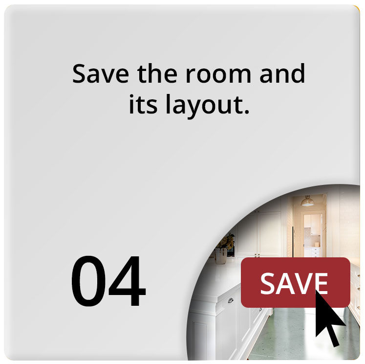 Save the room layout