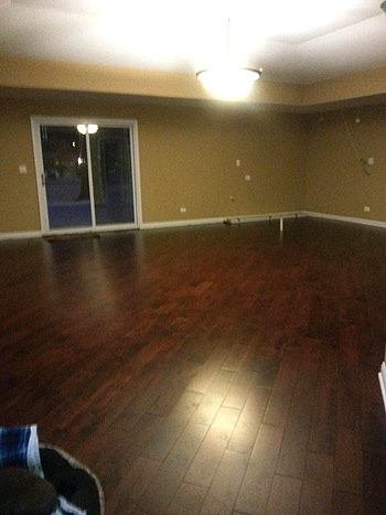 Olson Rug new hardwood flooring in home